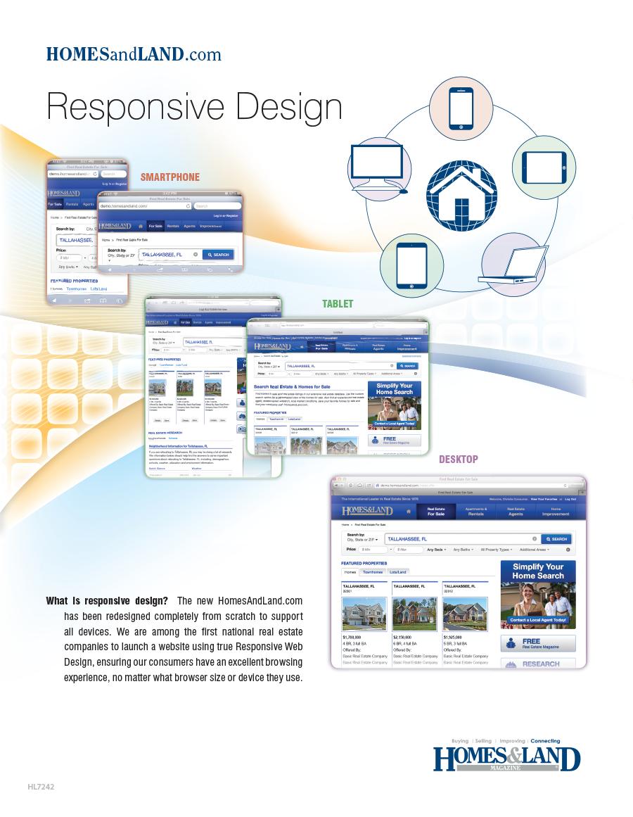HomesAndLand.com responsive design