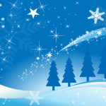 chrismas blue background