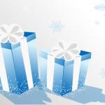 christmas present boxs -blue color