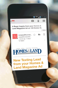 Homes & Land's real estate text codes continue to generate leads