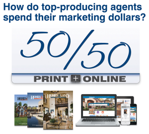 How do top-producing agents spend their marketing dollars?